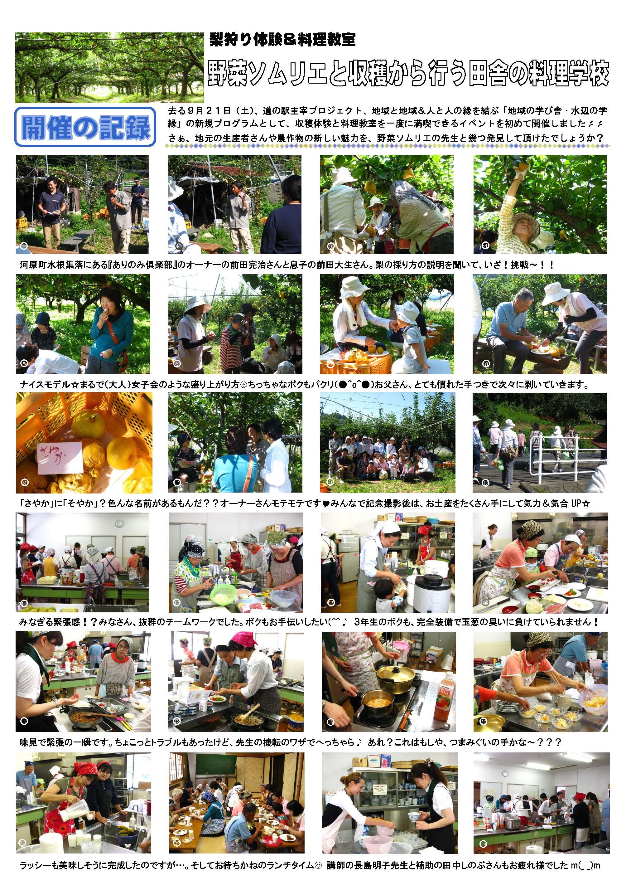 田舎の料理学校開催記録